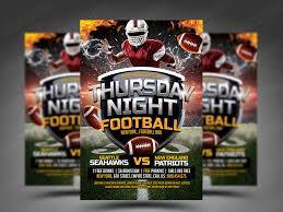 football flyer templates thursday night football flyer psd template by smashingflyers