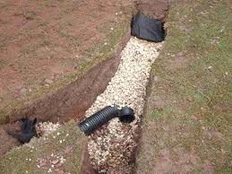 french drain construction. Delighful French Image Of A French Drain Under Construction With Drain Construction L