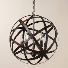 large metal orb chandelier gallery 5 of 10