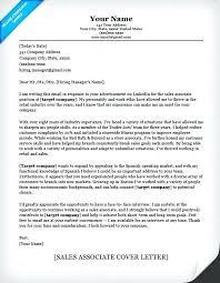 Resume Sample Retail Sales Associate Sales Associate Cover Letter