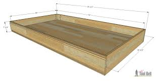 how to build a simple twin bed trundle