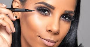 to finish your eye makeup use a liquid eyeliner to line your upper lash line we love the l oréal paris infallible the super slim liquid eyeliner in black