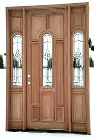 entry door with one sidelight