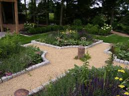 stone garden edging design