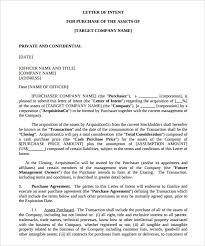asset purchase letter of intent template pdf for free purchaser cover letter