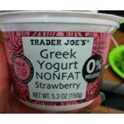 trader joe s greek yogurt non fat strawberry nutrition