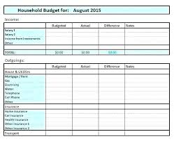 Sample House Budget Fresh Sample Household Budget Sheet And Group Business