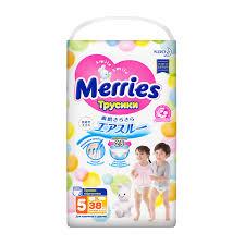 Купить <b>подгузники</b>-<b>трусики Merries XL</b> (12-22 кг), 38 шт., цены в ...