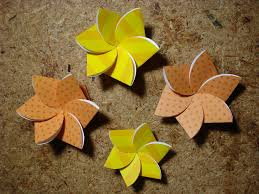 Flower Made By Paper Folding Paper Flower Card