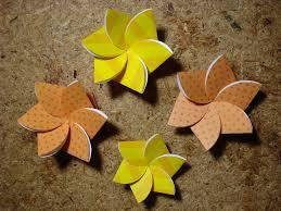 Paper Folded Flower Paper Flower Card