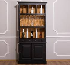 Casa Padrino Country Style Wine Cabinet Black Natural 103
