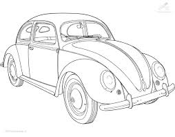 Mustang Coloring Pages Or Coccinelle Voiture Coloriage Vacance
