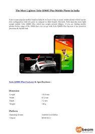 most lightest xolo q900s plus mobile ...