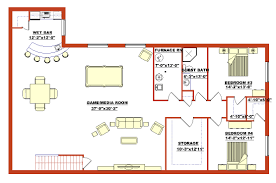 High Quality Finished Basement Plans  Finished Walk Out Basement - Wet basement floor ideas