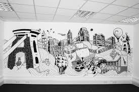 office graffiti wall. Recruit UK Graffiti Wall - Bristol, England Office M