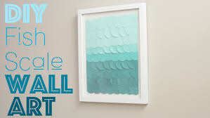on wall art diy youtube with diy fish scale wall art youtube