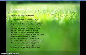 exles of sonnet poems you