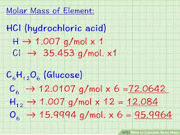 Way To Find Atomic Mass Of Elements Molar Mass Periodic