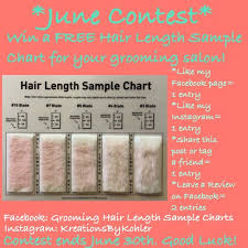 Hair Length Sample Chart Grooming Hair Length Sample Charts By Kreations By Kohler