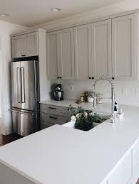 light grey quartz countertops our kitchen tour