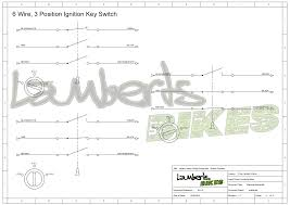 ignition switch lamberts bikes 6 wire ignition switch wiring diagram