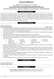 Creative Designer Resume Example  Marketing Executive Media Production