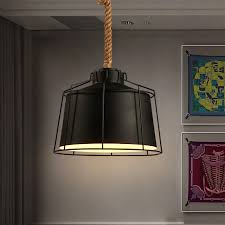 country lighting fixtures for home. Industrial Pendant Lights Fixture American Country Retro Hanging Home Lighting Hemp Rope Lamp Cafes Pub Fixtures For T