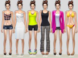 The Sims Resource: Daphne female models vy TugmeL • Sims 4 Downloads