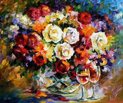 breathtaking flower paintings by leonid afremov amo images amo images