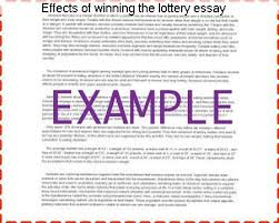 effects of winning the lottery essay essay academic writing service effects of winning the lottery essay