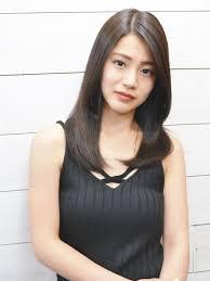 夏のヘアカタログ 黒髪ブルージュ大人ストレート 株式会社bright