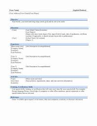 Resume Format Ms Word File 1080 Player