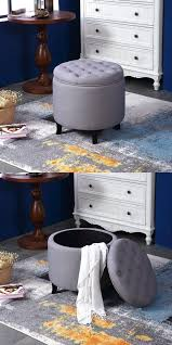 it tufted round vanity stool