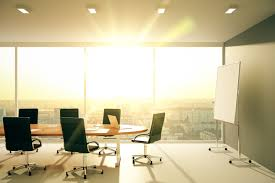 lighting in an office. sunny office lighting in an