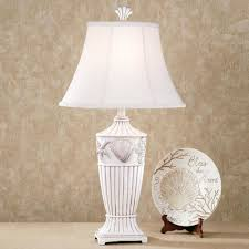 coastal table lamps uk bedroom sand and shell lamp with cfl regarding coastal table lamps