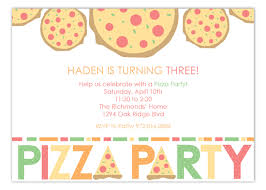 Party Invitations Haden Is Turning Three Pizza Party Invitations Polka Dot Invitations