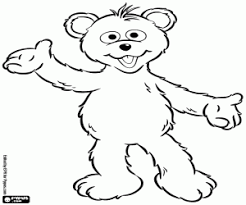 Baby Bear From Sesame Street Coloring Page Printable Game