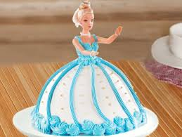 Blue Barbie Fondant Cake Barbie Bash Cake Bakingo