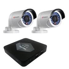 Комплект Ivideon Bridge + 2 <b>IP</b>-<b>камеры Hiwatch DS-I120</b> ...