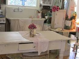 sink shabby chic kitchen with vintage accessories and small