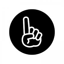 白抜きの人差し指ワンポイントのシルエット 無料のaipng白黒