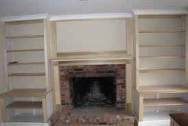 attractive built in shelves around fireplace cost home design ideas rc83
