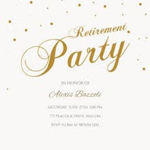 Retirement Farewell Party Invitation Templates Free Greetings