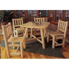 Solid Cedar Wood Garden Table And Two Benches  Natures Wood Cedar Wood Outdoor Furniture
