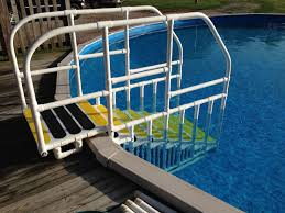 image of above ground pool ladders
