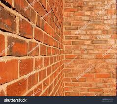 brick walls. Brick Walls Intersecting At An Inside Corner