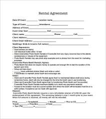 Venue Contract Template Venue Rental Agreement Template Sample Booth Rental