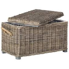 wicker storage chest. Plain Wicker Safavieh Salim Grey Natural Rattan Storage Trunk Intended Wicker Chest