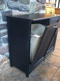 kitchen cabinet with trash bin can size door