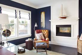 home office formal living room transitional home. living room transitional and exposed wooden beams navy blue white with traditional bookcases home office beach style oak floor formal
